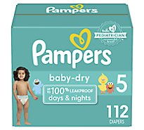 Pampers Baby Dry Diapers Size 5 - 112 Count