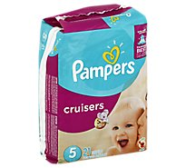 Pampers Cruisers Diapers Size 5 (27+ lb) Sesame Street - 21 Count