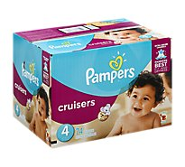 Pampers Cruisers Diapers Size 4 (23-37 lb) Sesame Street - 74 Count