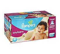 Pampers Cruisers Diapers Size 4 (23-37 lb) Sesame Street - 112 Count