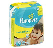 Pampers Swaddlers Diapers Size 5 (27+ lb) Sesame Beginnings - 20 Count