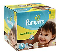 Pampers Swaddlers Diapers Size 5 (27+ lb) Sesame Beginnings - 62 Count