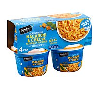 Signature SELECT Macaroni & Cheese Dinner Microwaveable Cup - 4-2.05 Oz