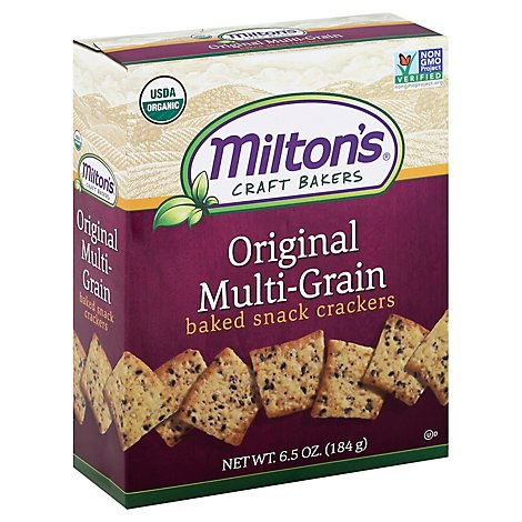 Miltons Original Multi Grain Snack Cracker - 6.5 Oz