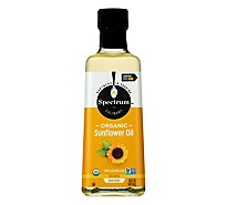 Spectrum Sunflower Oil Organic High Heat Refined - 16 Fl. Oz.