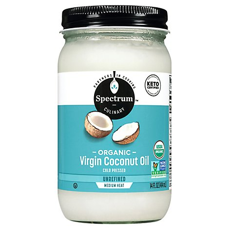 Spectrum Coconut Oil Organic Virgin Unrefined - 14 Fl. Oz.