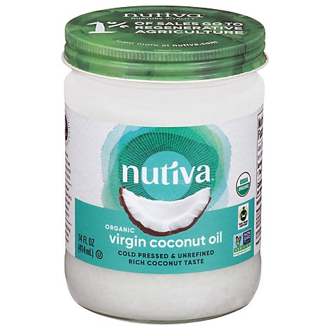 Nutiva Nurture Vitality Coconut Oil Virgin - 14 Fl. Oz.