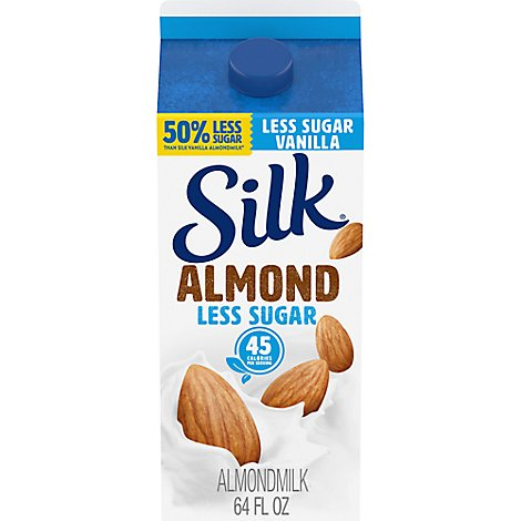 Silk Almondmilk Less Sugar Vanilla - 64 Fl. Oz.