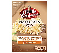 Orville Redenbachers Popping Corn Gourmet Naturals Classic Butter & Sea salt - 3-2.69 Oz