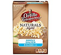 Orville Redenbachers Popping Corn Gourmet Naturals Simply Salted - 3-2.69 Oz
