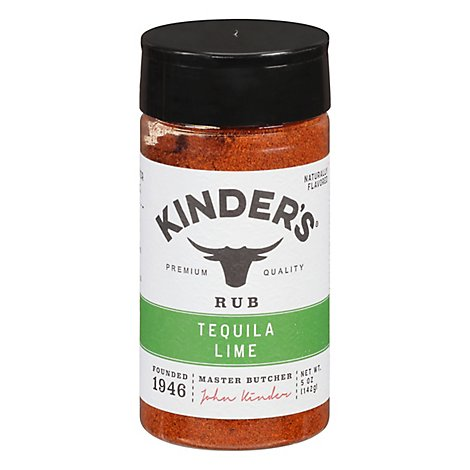 Kinders California Barbecue Rub Bbq Tequila Lime - 6.2 Oz