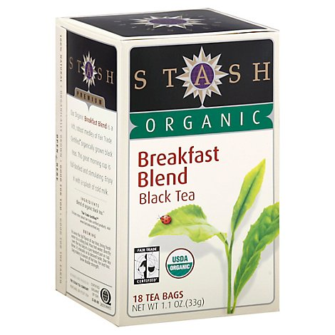 Stash Organic Black Tea Breakfast Blend - 18 Count