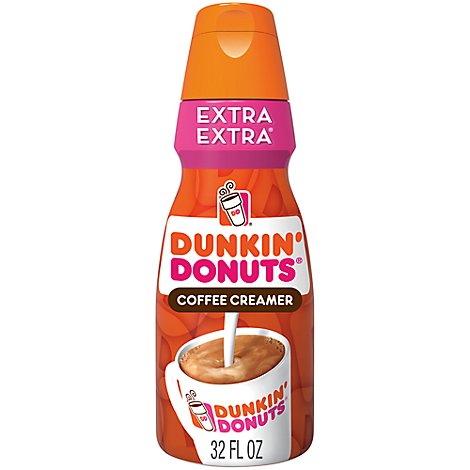 Dunkin Donuts Coffee Creamer Extra Extra - 32 Fl. Oz.