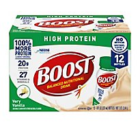 Boost Nutritional Drink High Protein Complete Very Vanilla - 12-8 Fl. Oz.