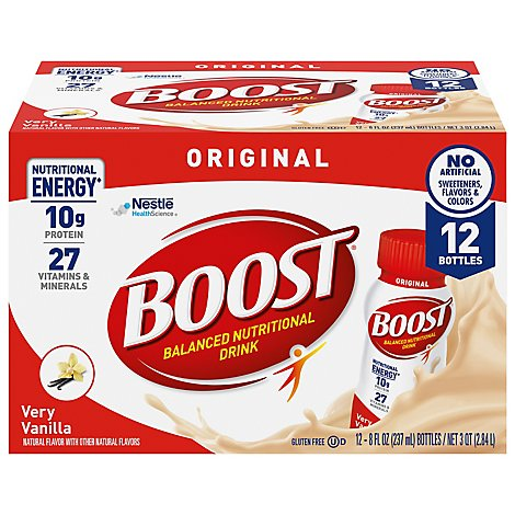 BOOST Original Nutritional Drink Very Vanilla - 12-8 Fl. Oz.