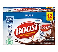 Boost Plus Nutritional Drink Chocolate Drink - 12-8 Fl. Oz.