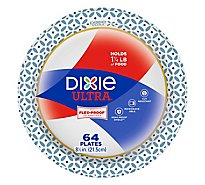 Dixie Ultra Plates Microwavable Built Strong 8 1/2 Inch - 64 Count