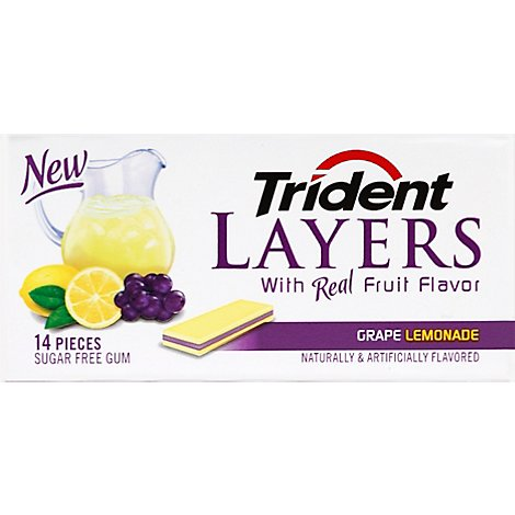 Trident Gum Layers Sugar Free Grape Lemonade - 14 Count
