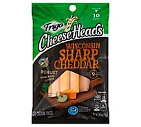 Frigo Cheese Heads Premium Snacking String Wisconsin Sharp Cheddar - 10-0.83 Oz