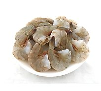 Seafood Service Counter Shrimp Jumbo Raw 16/20 Ct Peeled & Deveined Tail On - 1 LB