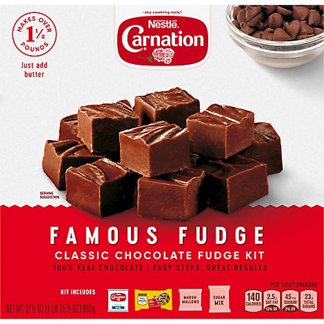 Carnation Fudge Kit Classic Chocolate Famous Fudge - 31.5 Oz