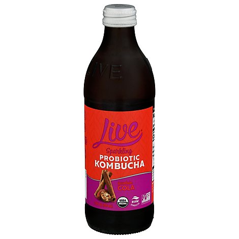 Live Soda Culture Cola Kombucha Raw Organic - 12 Fl. Oz.