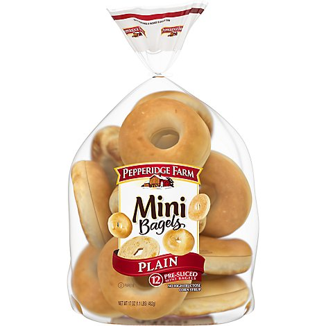 Pepperidge Farm Mini Bagels Plain - 17 Oz