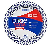 Dixie Ultra Plates Microwavable Built Strong 10 1/6 Inch Printed Snow Flakes - 22 Count
