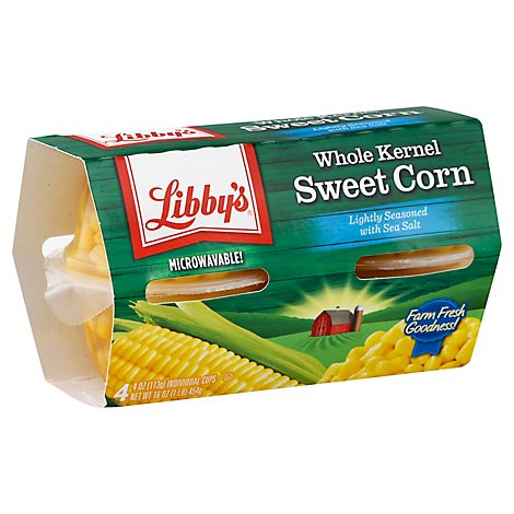 Libbys Microwavable Corn Whole Kernel Sweet Lightly Seasoned With Sea Salt - 4-4 Oz
