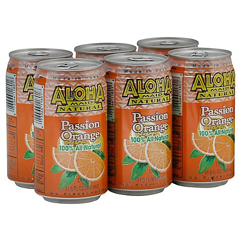 Aloha Maid Drink Passion Orange - 11.5 Fl. Oz.