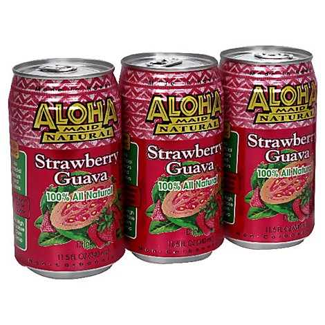 Aloha Maid Drink Strawberry Guava - 11.5 Fl. Oz.