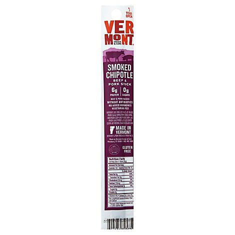 Vermont Smoke Cure Realsticks Chipotle - 1 Oz