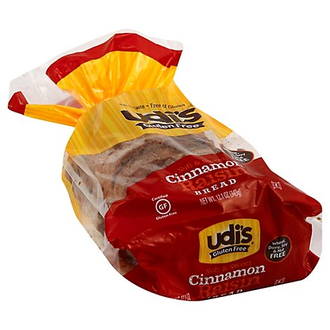 Udis Gluten Free Bread Cinnamon Raisin - 12.1 Oz