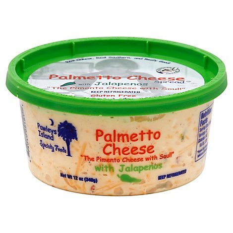 Pawleys Island Specialty Foods Cheese Spread Palmetto With Jalapenos - 12 Oz