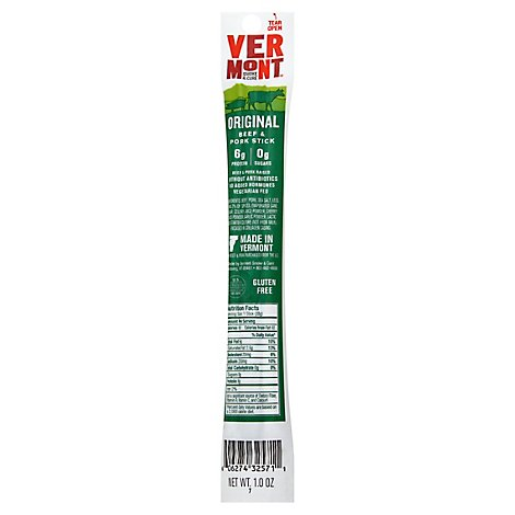 Vermont Smoke And Cure Cracked Pepper Realsticks - 1 Oz