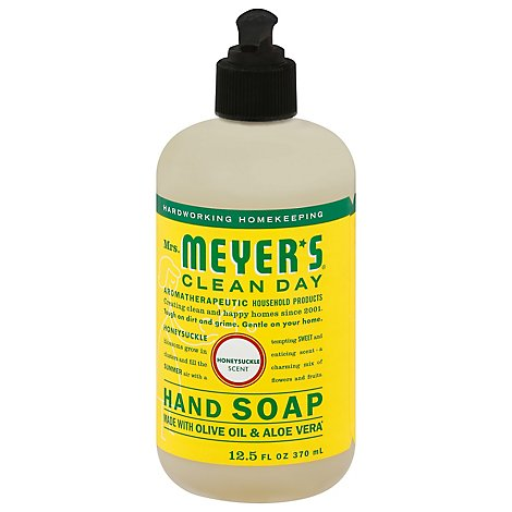 Mrs. Meyers Clean Day Liquid Hand Soap Honeysuckle Scent 12.5 ounce bottle