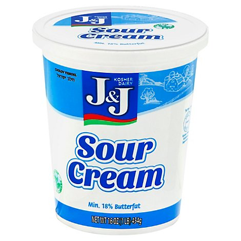 J&J Sour Cream - 16 Oz