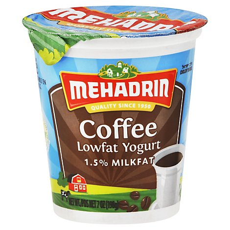 Mehadrin Natural Yogurt Coffee - 8 Oz