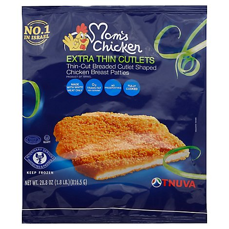 Moms Chicken Cutlets Extra Thin - 28.8 Oz