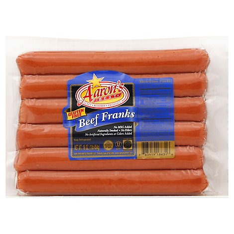 Aarons Best Franks All Beef Kosher - 16 Oz