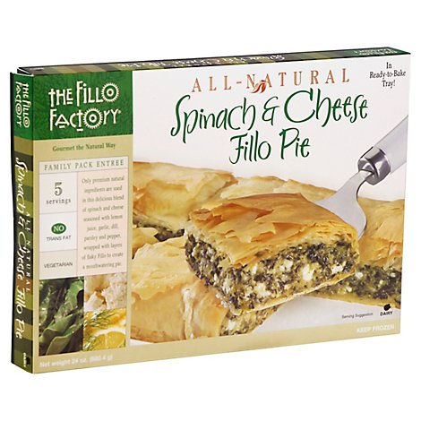 Fillo Factory Entree Spinach Cheese Pie - 24 Oz