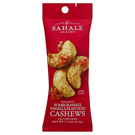 Sahale Snacks Cashews Pomegranate Vanilla Flavored Natural Glazed Mix - 1.5 Oz