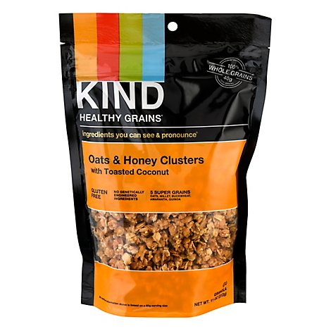 KIND Healthy Grains Clusters Granola Oats & Honey with Toasted Coconut - 11 Oz
