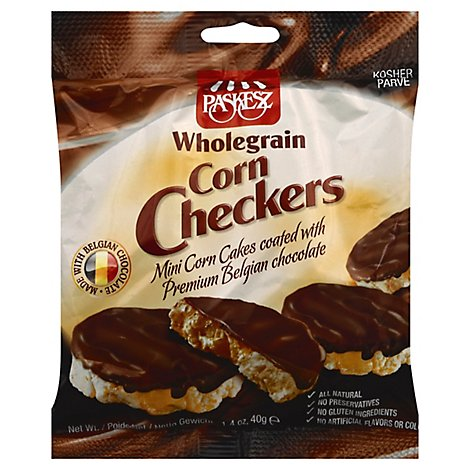 Paskesz Chocolate Covered Corn Checkers - 1.4 Oz