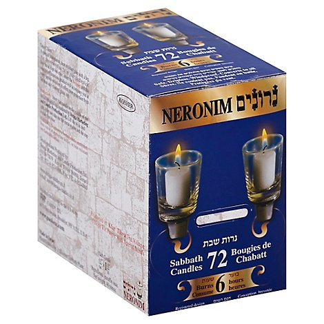 Neronim Sabbath Candles 6 Hr - 72 Count