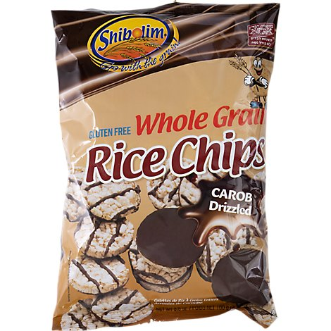 Shibolim Whole Grain Carob Covered Rice Chips - 3.5 Oz