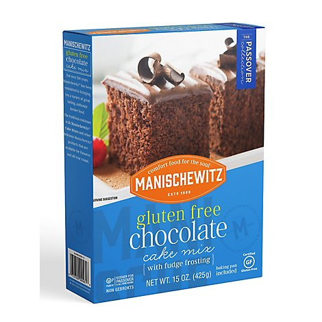 Manischewitz Cake Mix Chocolate Gluten Free - 15 Oz