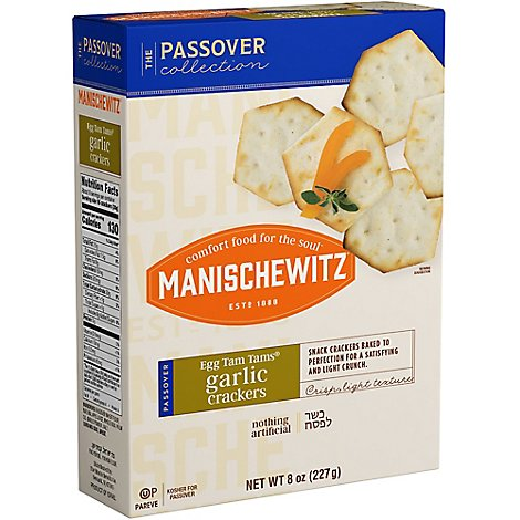 Manischewitz Tam Tam Garlic Crackers - 8 Oz