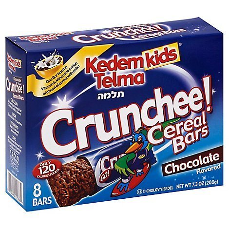 Kedem Kids Cereal Bars Chocolate - 7.3 Oz