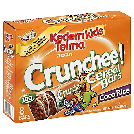 Kedem Kids Cereal Bars Coco Rice - 5.9 Oz